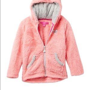 Betsey Johnson Fleece Hooded Teddy Coat Jacket 5
